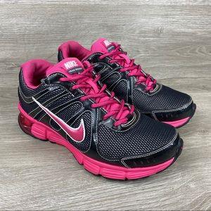 Nike Reax Rocket Womens Black Pink Athletic Shoes